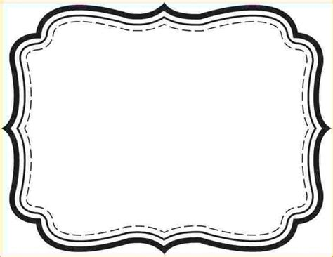 picture template picture frame 6 label templates free outline templates