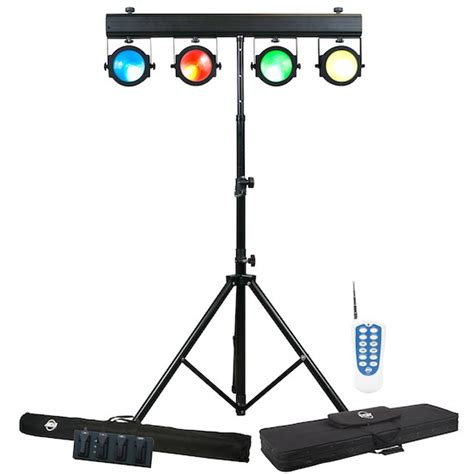 lighting system american dj dotz tpar system includes 4x cob led pars