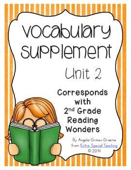 supplement grades reading wonders vocabulary supplement for grade 2 unit 2