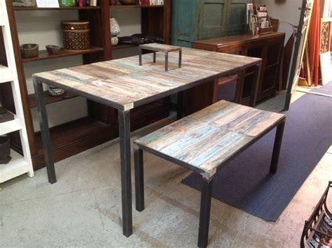 tavolo ferro tavolo shabby con base in ferro sht002 orissa