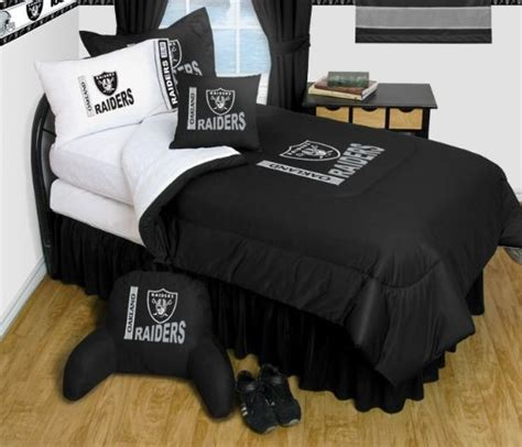 raiders bedroom oakland raiders nfl bedding complete set full w 1