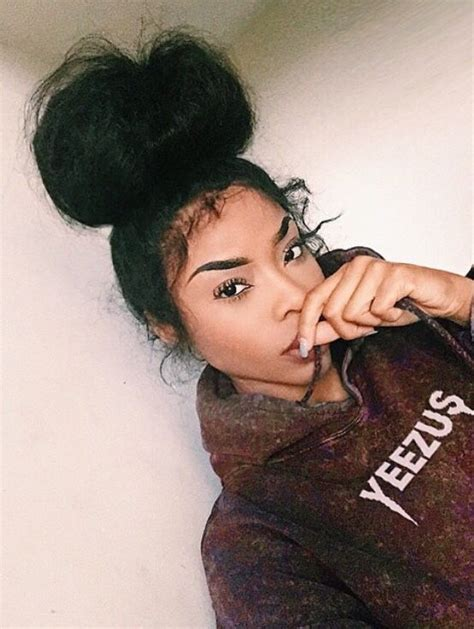 pics of black women pretty big hair buns with added hair 17 best images about da messy curly bun on pinterest top