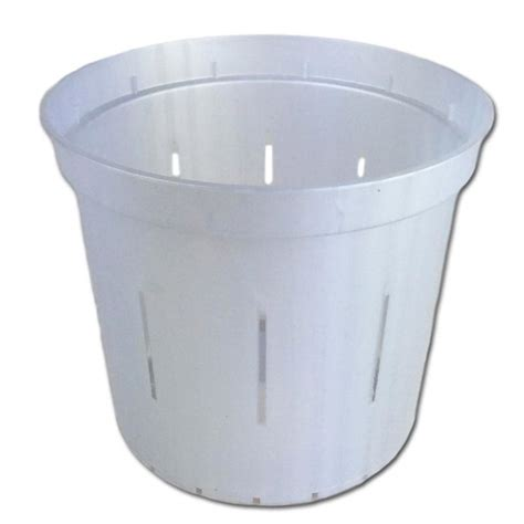 Clear Planter Pots by 6 Quot White Pearl Slotted Clear Planter