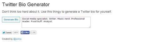 twitter biography generator how to write an effective twitter bio