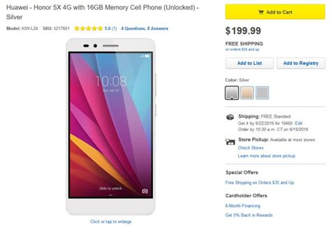 mazad online honor 5x now available at best buy in stores and online