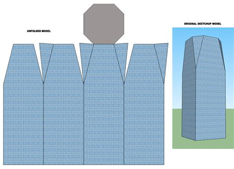 Sketchup Papercraft - papercraft sketchup and unfold