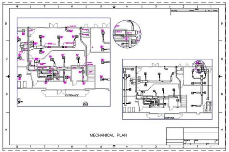 mechanical floor plan mechanical floor plan other autocad 3d cad model