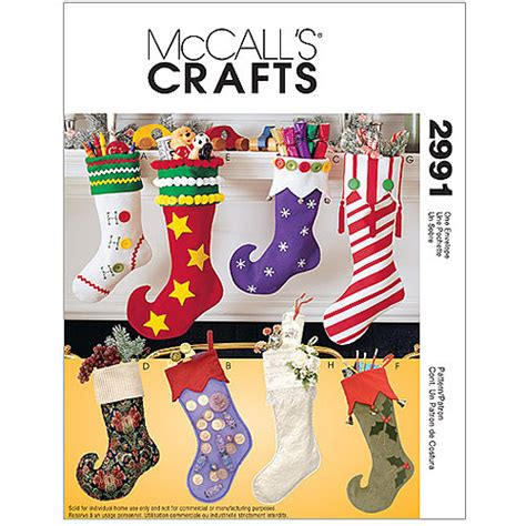 Mccalls Patterns For Christmas Stocking   mccall s pattern christmas stockings 1 size only