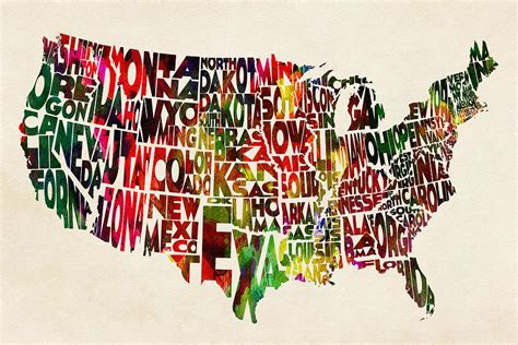 watercolor tattoos united states united states watercolor map painting by inspirowl design