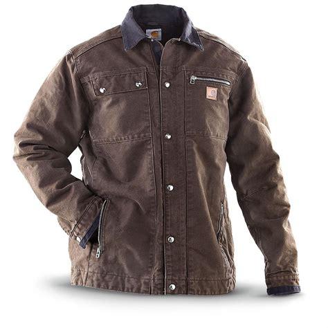 carhartt 174 multi pocket jacket walnut 231668 insulated