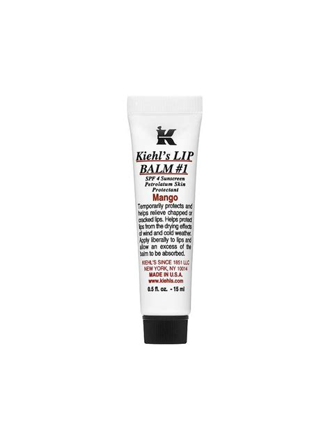 Kiehls Lip Balm Mango kiehl s scented lip balm mango 15ml transparent