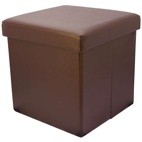 foldable storage ottoman with lid 38cm folding storage pouffe cube foot stool seat ottoman