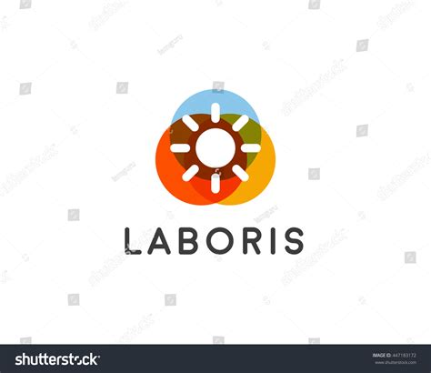 universal pattern en français abstract sun logo design template geometric stock vector