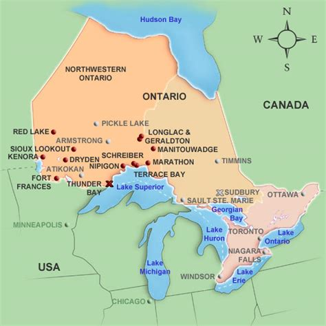 map of western ontario canada mildred baena map of ontario cities and towns