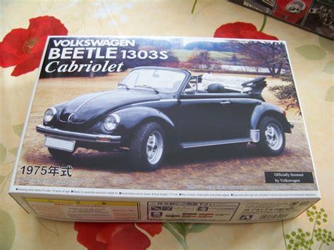 Volkswagen Beetle 1303s Cabriolet75 Aoshima vw cabriolet cox 1303s aoshima 1 24