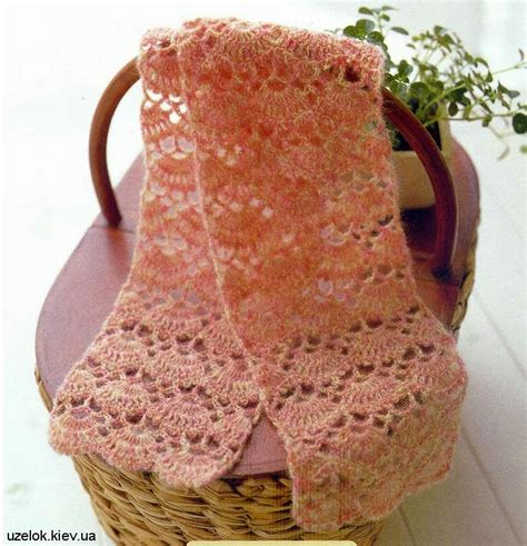 tejido de estolas sencillas estola o bufanda tejida con ganchillo con esquemas