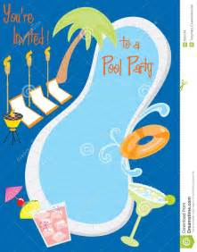 Backyard Pool Party Retro Pool Party Invitation Stock Images Image 9922164