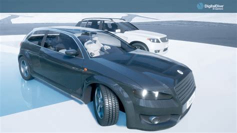 digital dive driveable cars basic pack 3d assets blueprints by