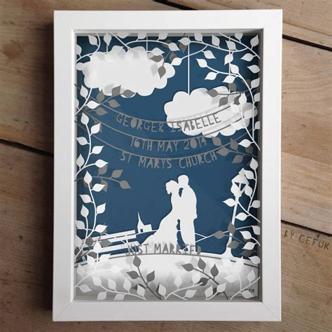 How To Make Layered Papercuts - personalised wedding layered papercut by the