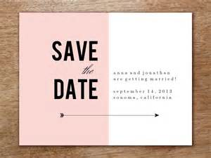save the date template pink block