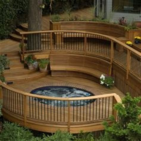 decks for split level homes with above ground pool house