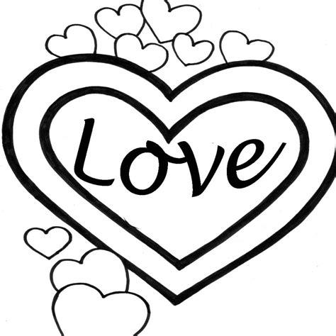 imagenes para pintar de amor dibujos de corazones de amor para imprimir y pintar