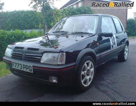 peugeot cars for sale in canada black peugeot 205 mi16 rally car rally cars for sale at