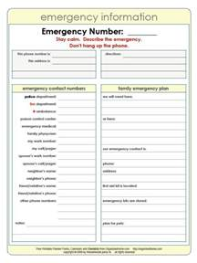 template for contact list 4 free emergency contact list templates small business