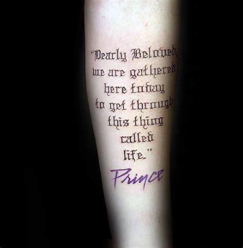 tattoo lyrics forearm 50 prince tattoo designs for men musician ink ideas