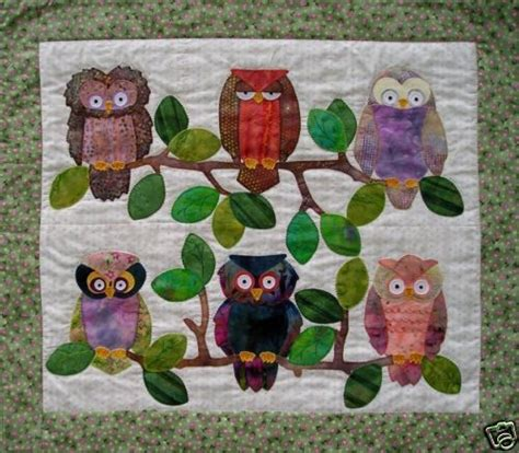 Owl Patchwork Patterns - quilt pattern whooters owl hooters applique easy ebay