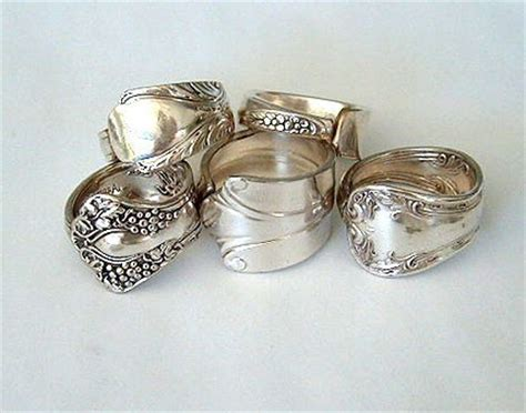 five silver spoon jewelry rings discount recycled spoons you