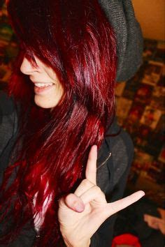 emo hairstyles burgundy beautiful scene girl with maroon burgundy hair scene