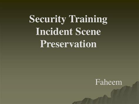 Incident Report Writing Powerpoint security incident investigation and report writing ppt