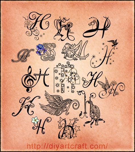 letter h designs tattoo 60 best images about ideas i like on