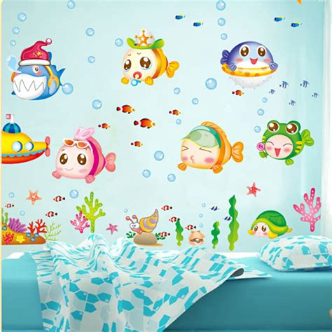 fish decals for bathroom decals chrome picture more detailed picture about 1 set