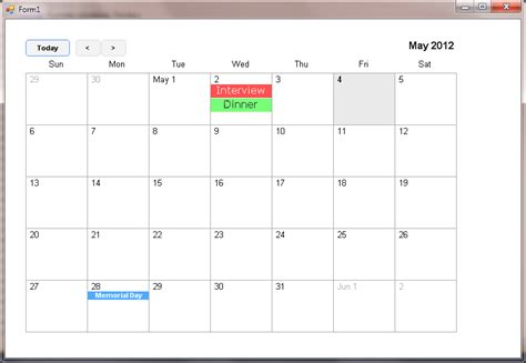 design calendar in asp net calendar net codeproject