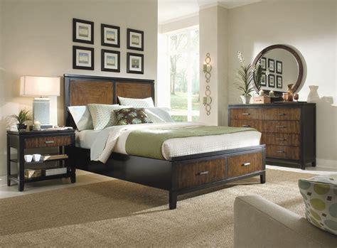 two tone bedroom furniture kinston storage platform panel bed 6 piece bedroom set in
