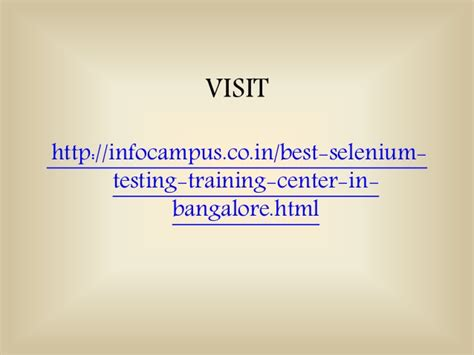 Distance Mba For Working Professionals In Bangalore by Selenium In Bangalore