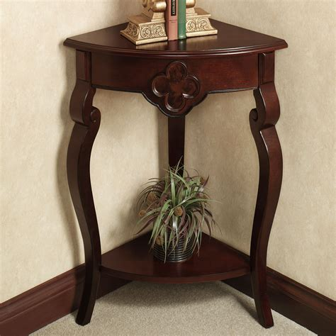 Corner Console Table Furniture Small Corner Console Table With Drawer Made Of Light Oak Pretty Corner Console Table