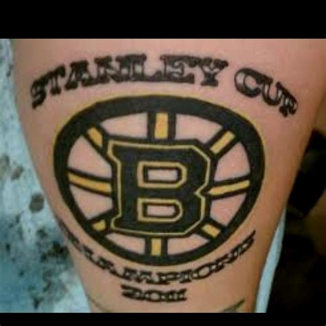 boston tattoos designs boston bruins stanley cup we bleed the black and
