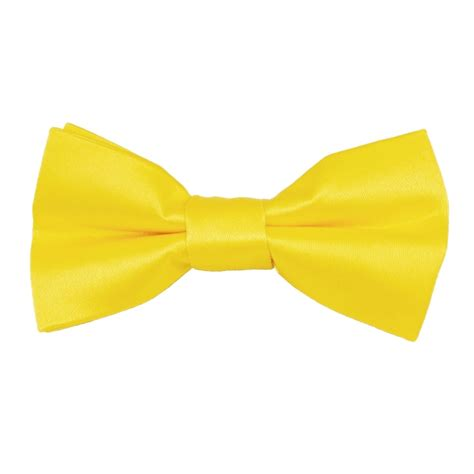 Plain Bow Tie plain bright yellow boys bow tie from ties planet uk