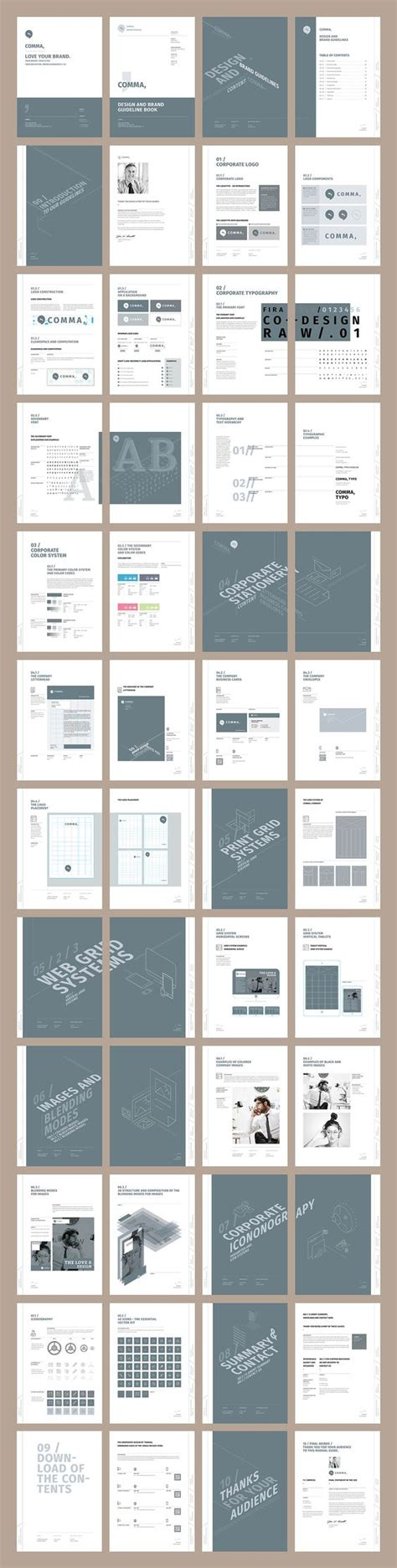 brochure layout text brand manual and identity template corporate design
