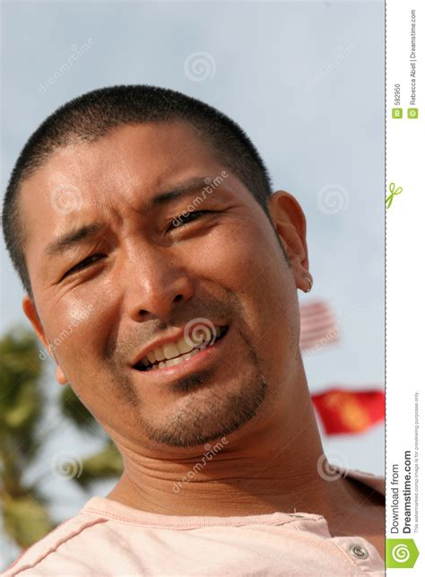 attractive asian man stock photo image