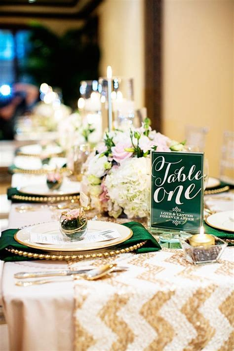 Emerald and Champagne Wedding Ideas   Weddings & Ideas