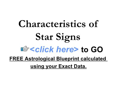 characteristics of star signs