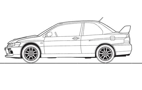mitsubishi evo drawing does anyone a evo8 line drawing mitsubishi lancer