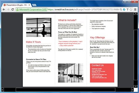 tri fold powerpoint template how to make printable brochures in powerpoint
