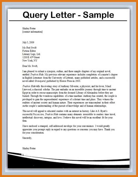 Collection of how to write a query letter sle query letter format query letter exle letter format business spiritdancerdesigns Choice Image