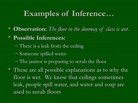 exle of observation observation vs inference exles images