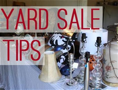 Garage Sale Tips And Tricks by Yard Sale Tips Tricks And Advice To Throwing A Successful